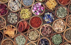 Kräuter- und Gewürzschalen für ayurvedische Anwendungen