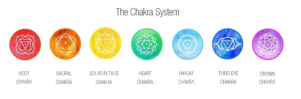 Darstellung der Chakren in ayurvedischen Lehre